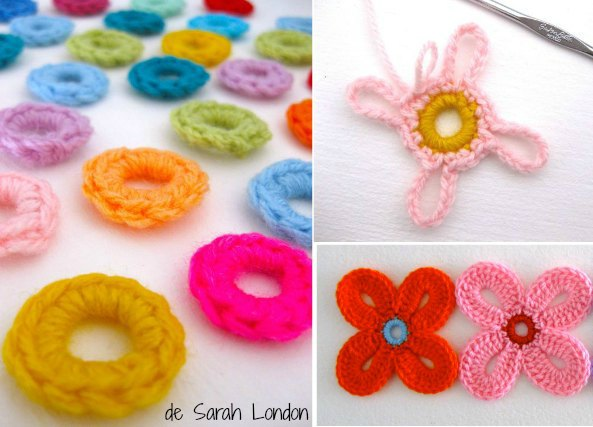 Como tejer flores de crochet hawaianas