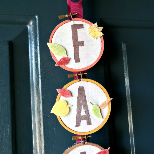 Embroidery Hoop Fall Decor Closeup by Dana Tatar for Scrapbook Adhesives by 3L