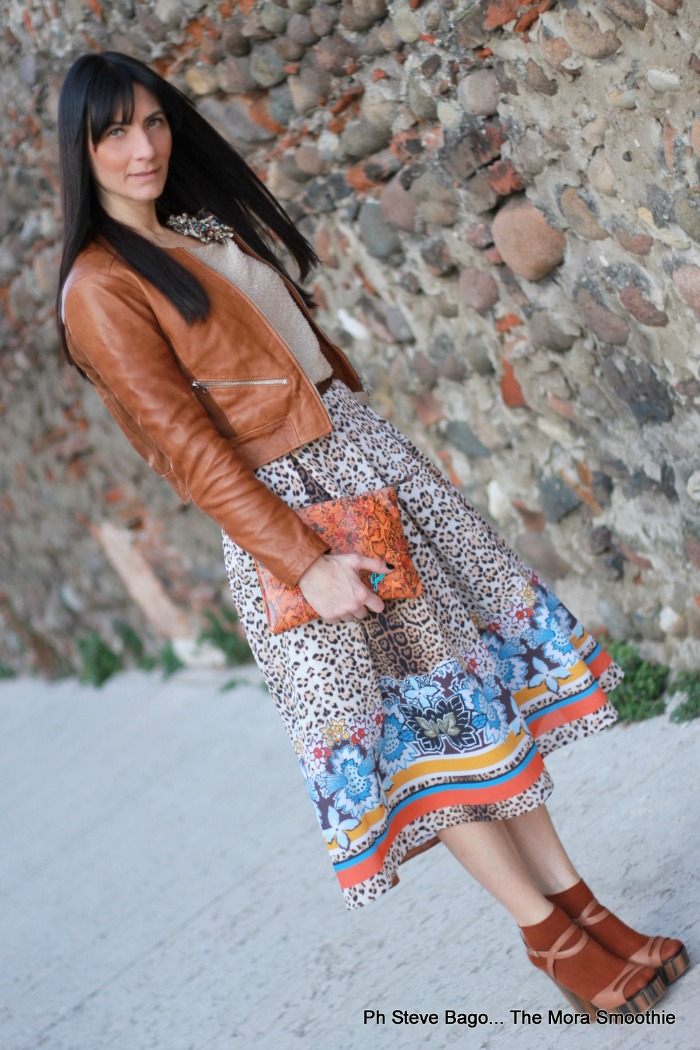 paola buonacara, fashion, fashionblogger, fashionblog, fblog, italian fashion blogger, fashion blogger italiana, fashion blogger italiane, ootd, look, outfit, look, animalier, annarachele, gonna annarachele, skirt annarachele, shoes, shoes lellabaldi, scarpe lella baldi, zeppe lella baldi, zeppa legno, scarpe zeppa legno, lacco legno, gabs, borsa gabs, outfit colori della natura, look animalier, mood animalier, outfit animalier