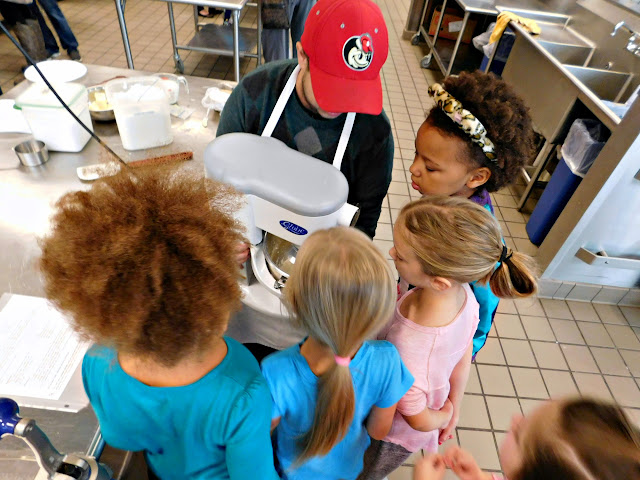 Making frosting with Girl Scouts of North East Ohio