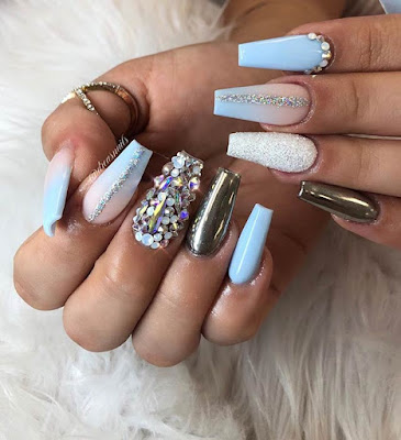and it is very popular around the winter and summer but it may be worn around year One of ✘ 13+ Simple Ways to Wear Baby Blue Nails You'll Need To Copy