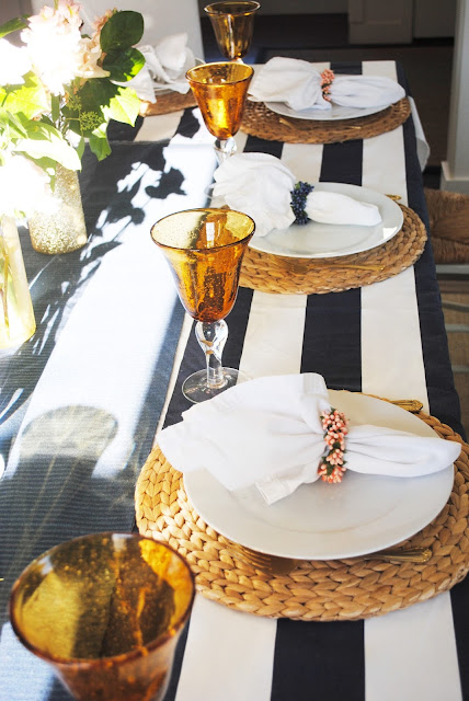 Navy Gold whtie and gold tablescape, birthday dinner, birthday dinner