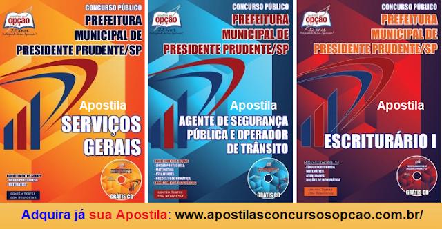 Apostilas para o Concurso Público Prefeitura de Presidente Prudente 2017