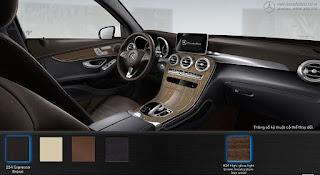 Nội thất Mercedes GLC 250 4MATIC 2017 màu Nâu Espresso 224