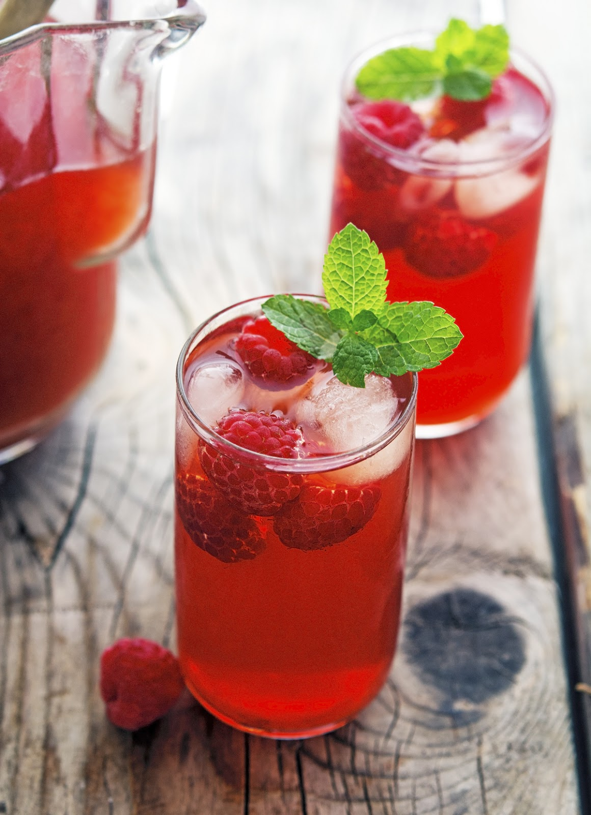 Raspberry Mint Iced Tea