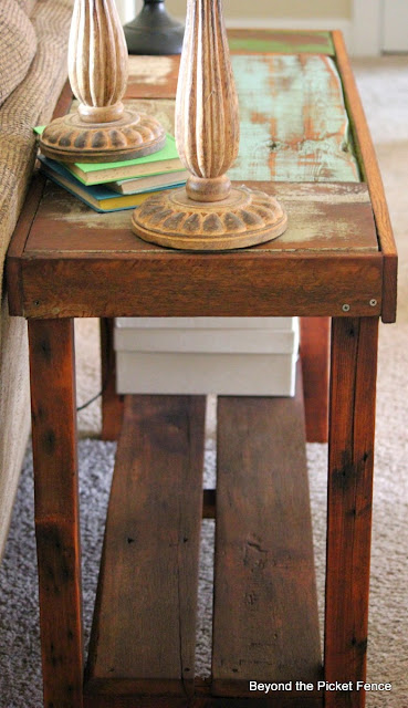 use salvaged wood to make a table