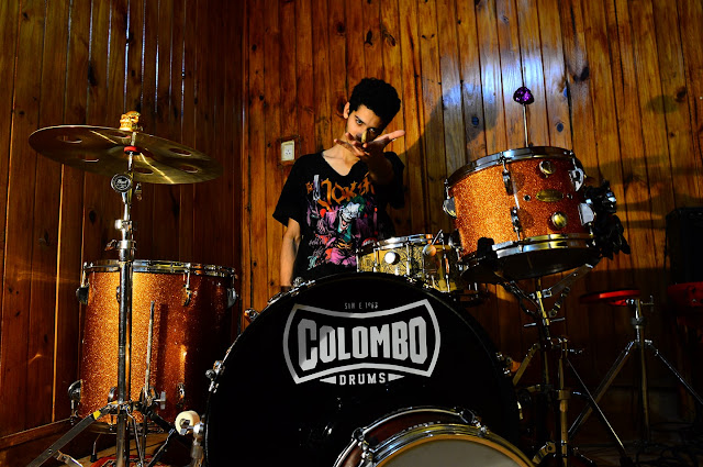 Nahuel Gauna con Colombo Drums