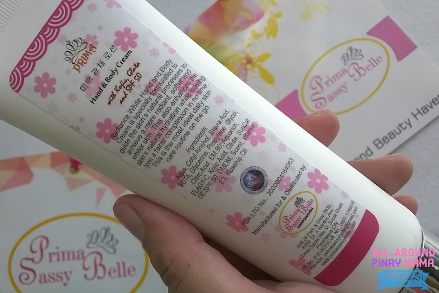 Prima Radiance White Hand & Body Cream, Prima Sassy Belle, Product Review, AAPM Health and Wellness,