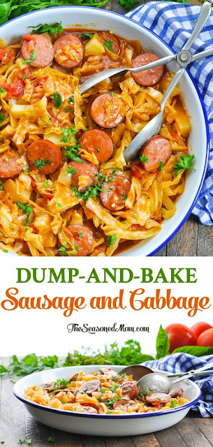 DUMP-AND-BAKE SAUSAGE AND CABBAGE DINNER