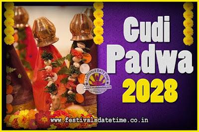 2028 Gudi Padwa Pooja Date & Time, 2028 Gudi Padwa Calendar