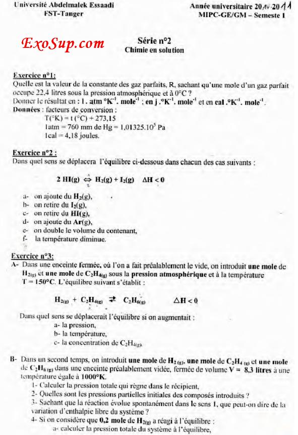 chimie en solution s2