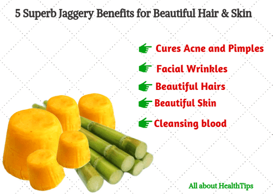 5 Superb Jaggery Benefits for Beautiful Hair & Skin