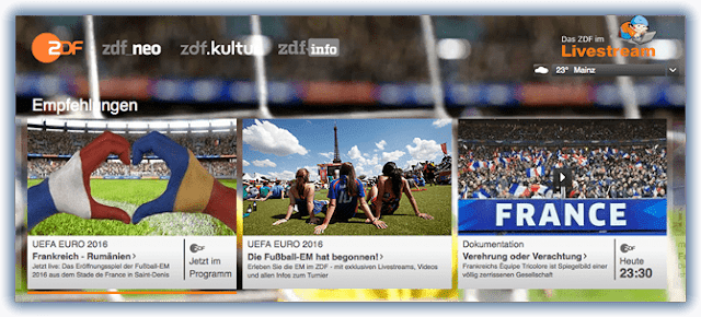 Fußball EM 2016 auch im Ausland sehen!