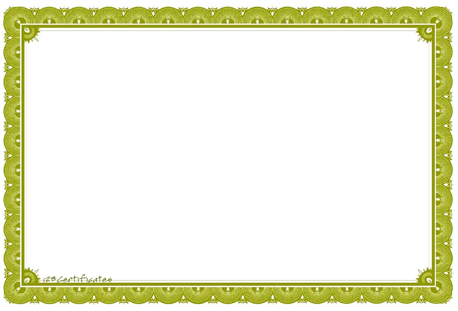 certificate border examples