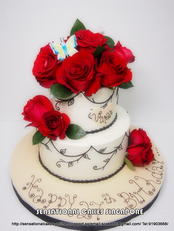 rose birthday cake cakes2share singapore roses cake for roses 7111