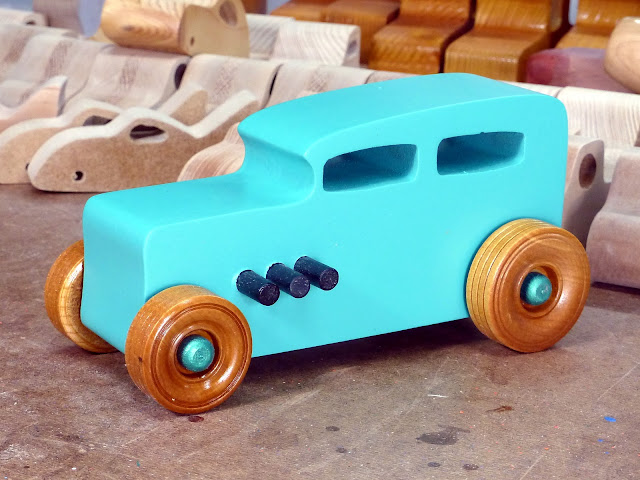 20170521-153058  Wooden Toy Car - Hot Rod Freaky Ford - 32 Sedan - MDF - Air Brushed Acrylic