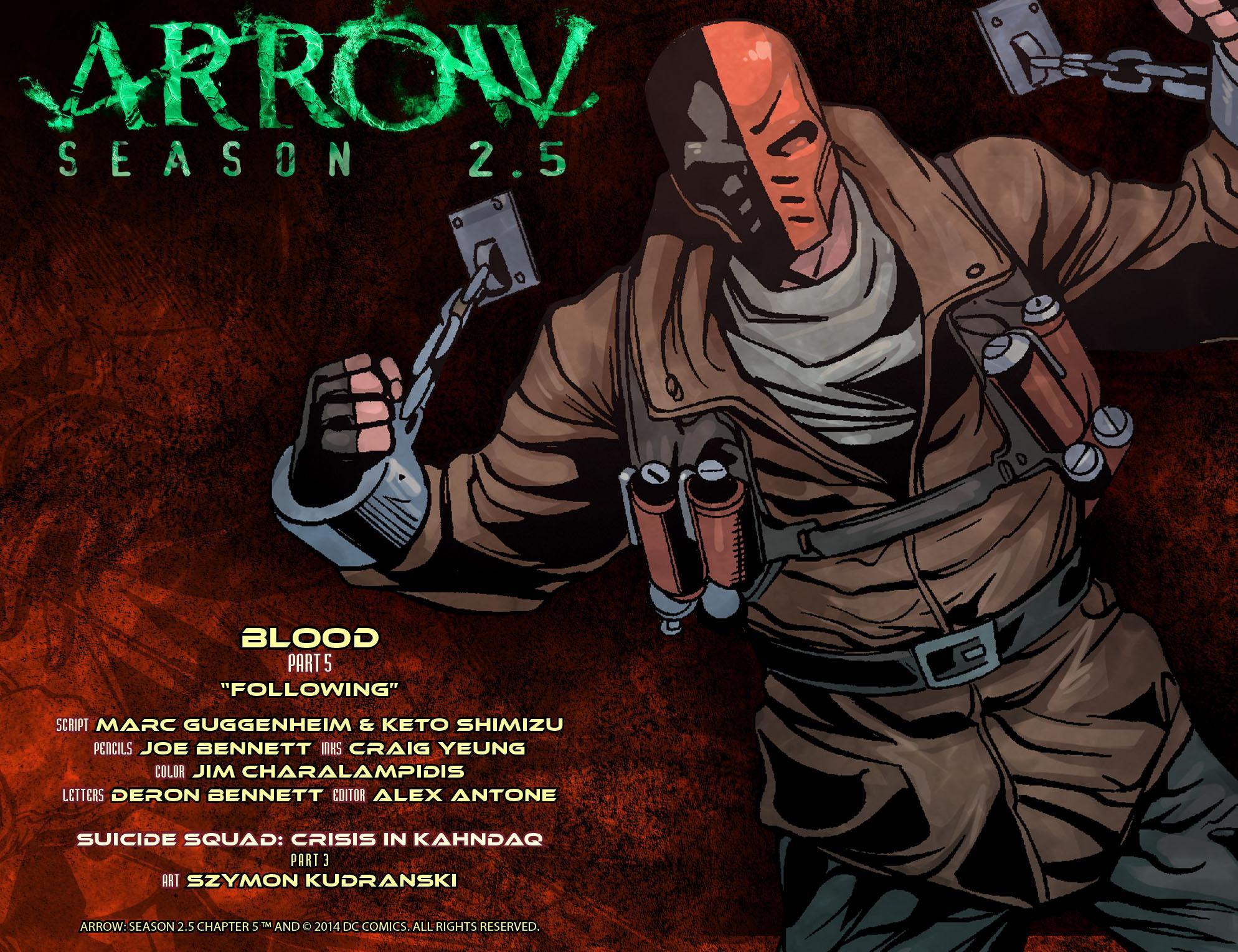 Read online Arrow: Season 2.5 [I] comic -  Issue #5 - 2
