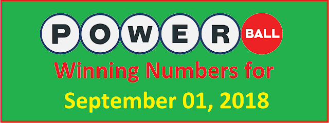 PowerBall Winning Numbers for Saturday, 01 September 2018
