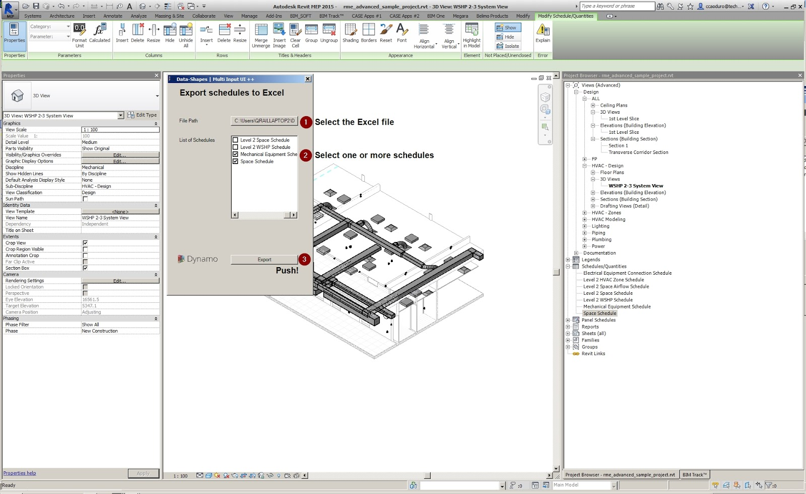 Revit Add-Ons: Exporting Schedules to Excel with Dynamo