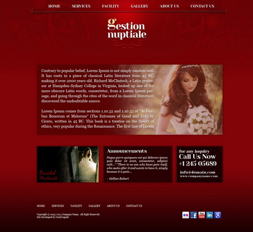 PSD Template For Wedding