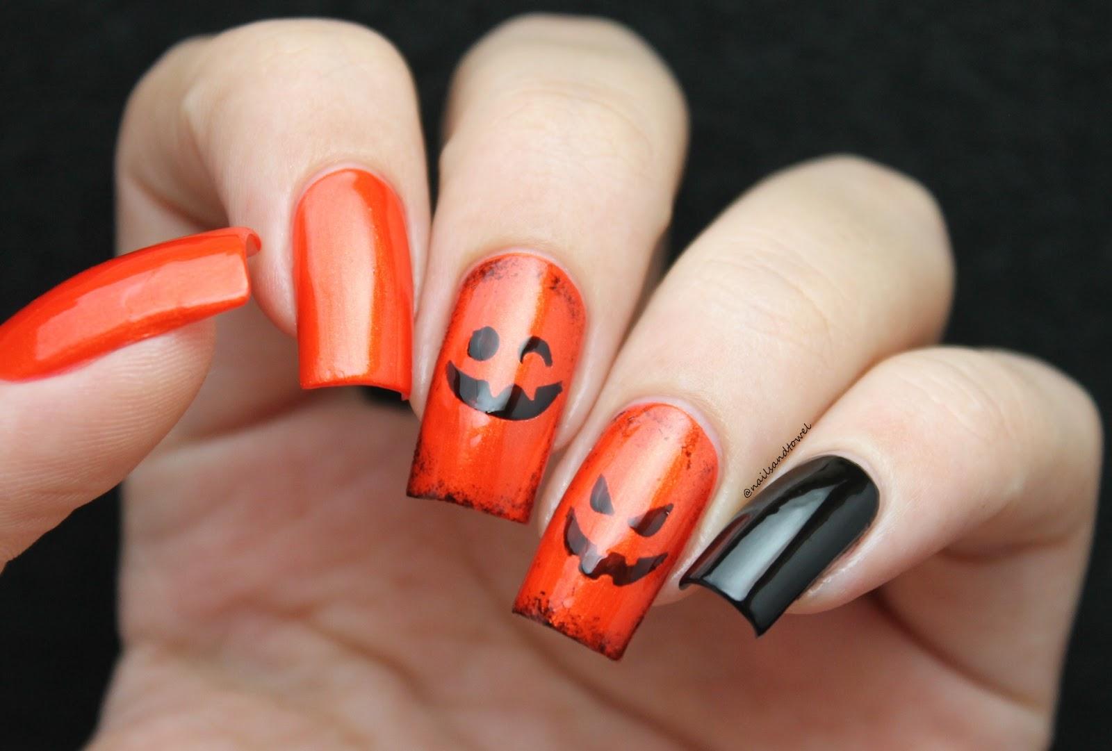 my nail art journal: cute pumpkin faces - halloween nails + bundle