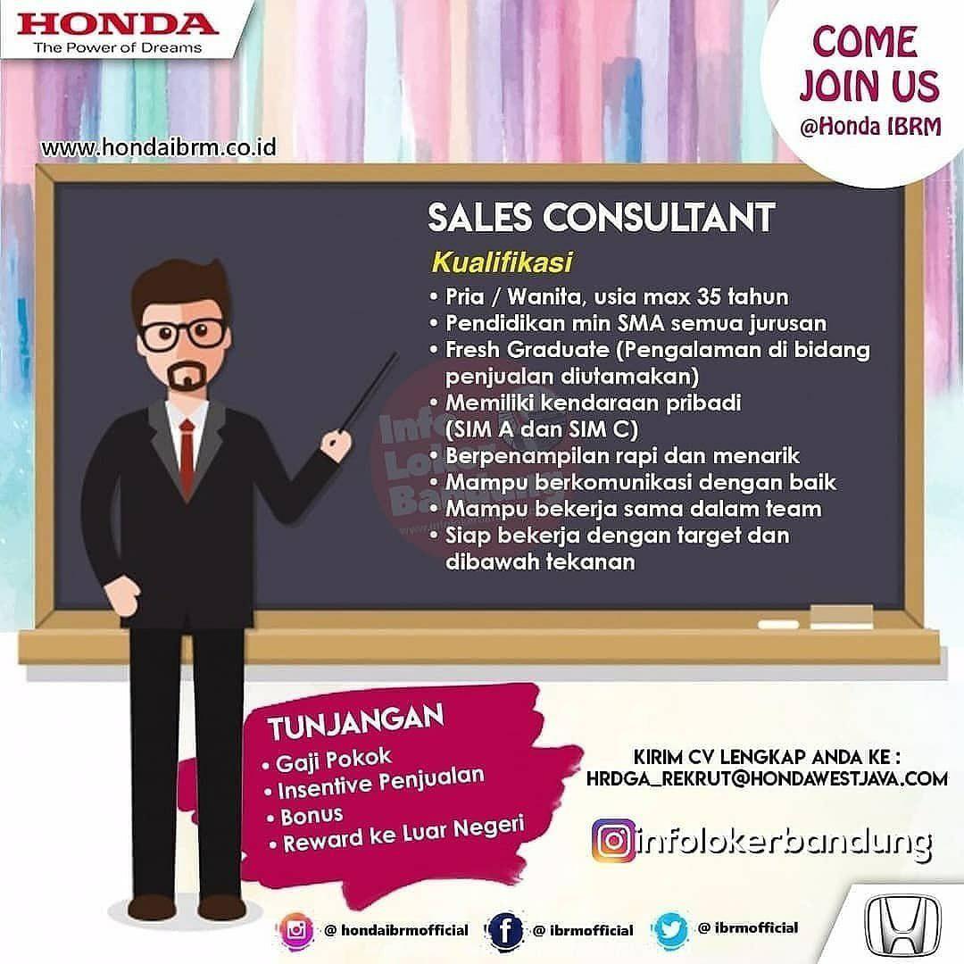 Lowongan Kerja Honda IBRM Bandung Mei 2019