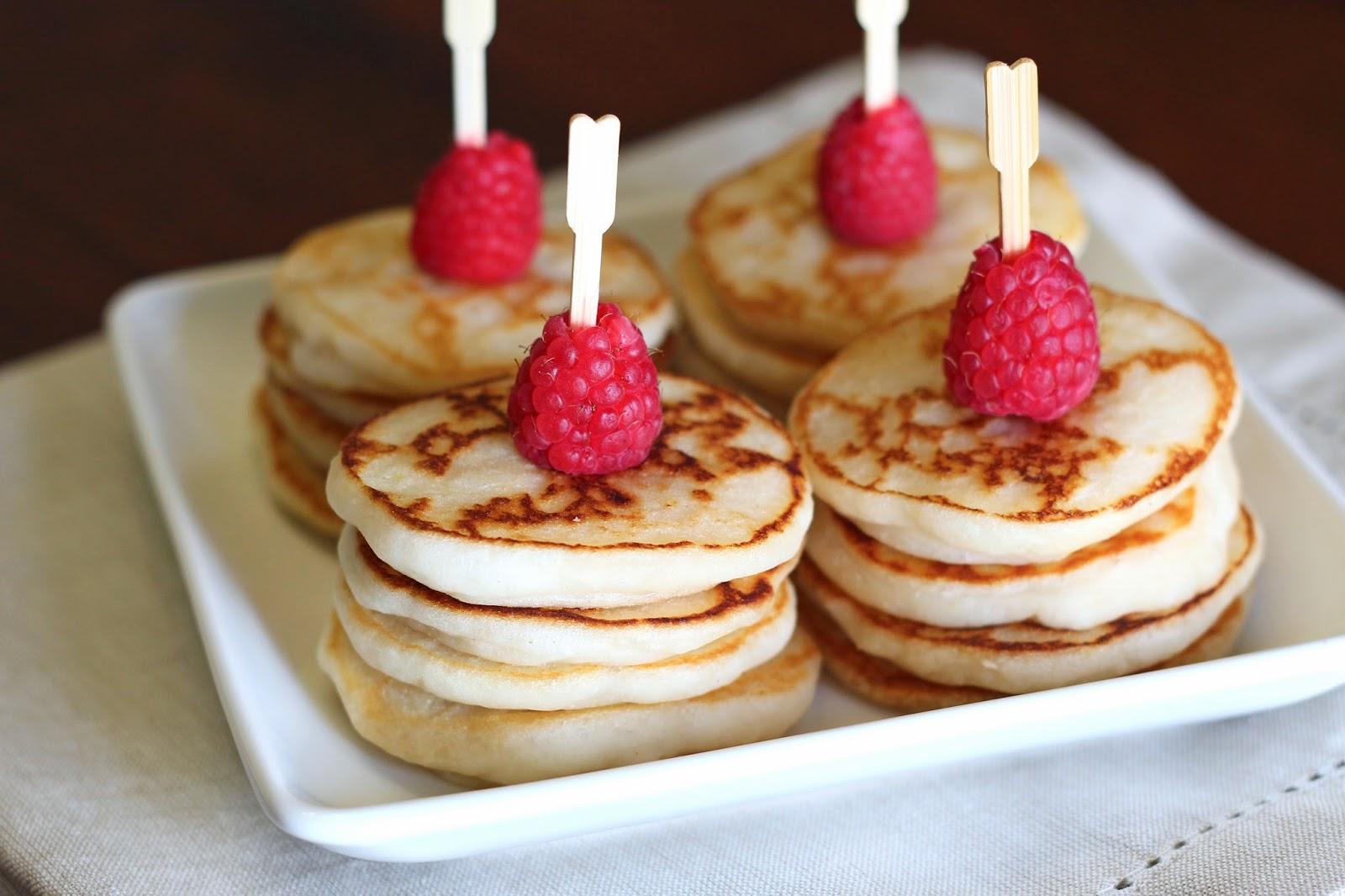 Gluten Free Vegan Mini Lemon Pancakes