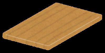 木のテーブルのイラスト(斜め・天板のみ)