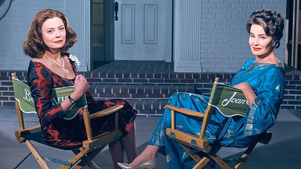 Susan Sarandon y Jessica Lange emulando a Bette Davis y Joan Crawford