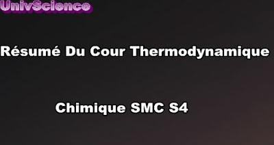 Résumé Du Cour Thermodynamique Chimique SMC S4 PDF