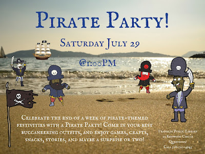 Franklin Library: Pirate Party on Saturday, July 29