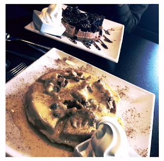 Jacks Apple Pie and Custard Waffle, waffle, Chocolate Fudge Mess Waffle, ice cream, treat, sugar, Creams, Creams Cafe