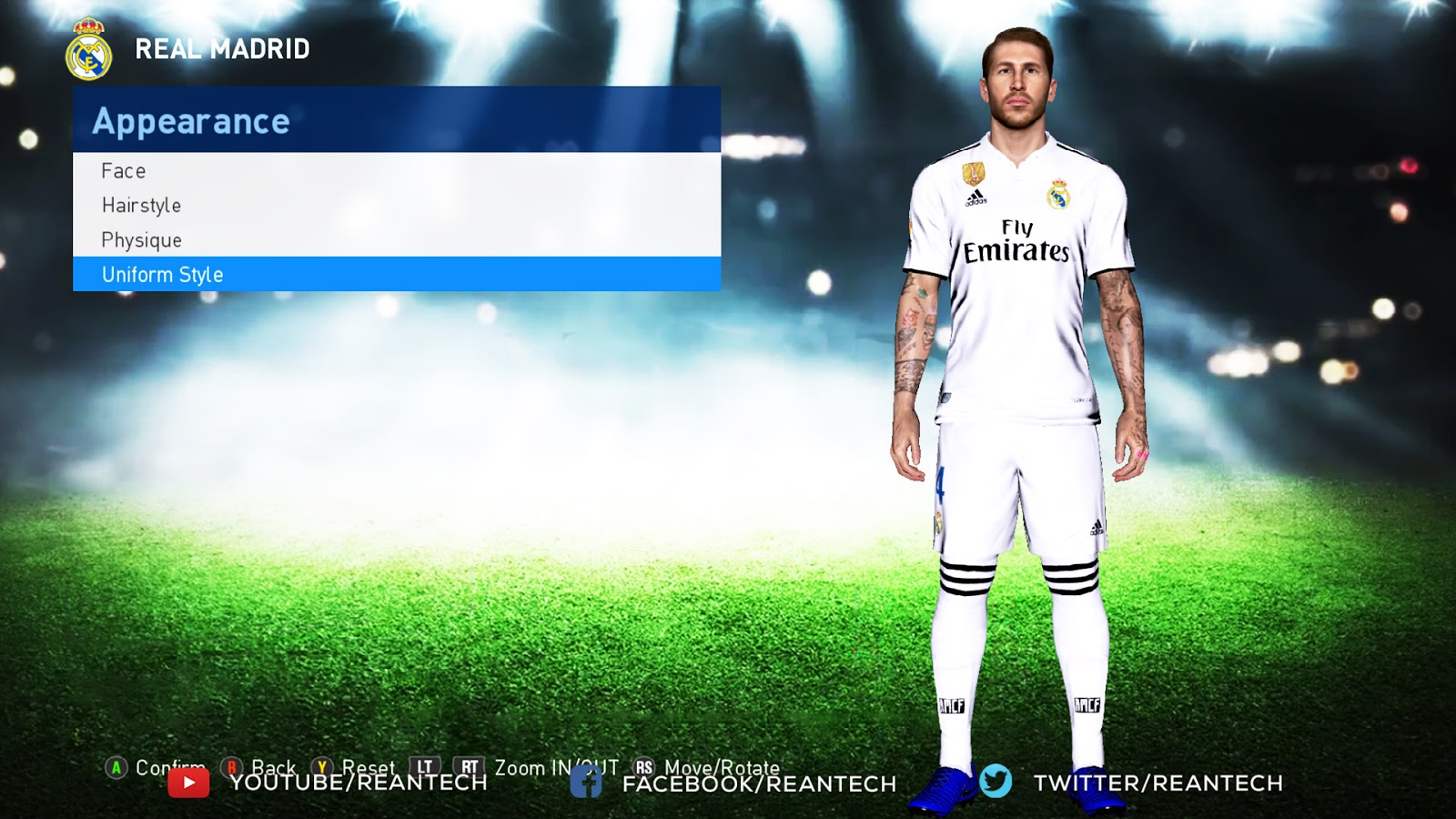 PES 2017 B G Body Style For Tattoo Pack 800 AIO - Rean Tech | PES