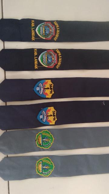 Dasi Sekolah SD SMP SMA Bordir Nama dan Logo Sekolah