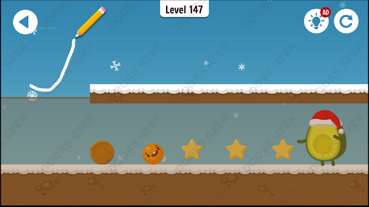 Where's My Avocado? Level 147 Solution, Cheats, Walkthrough, 3 Stars for Android, iPhone, iPad and iPod