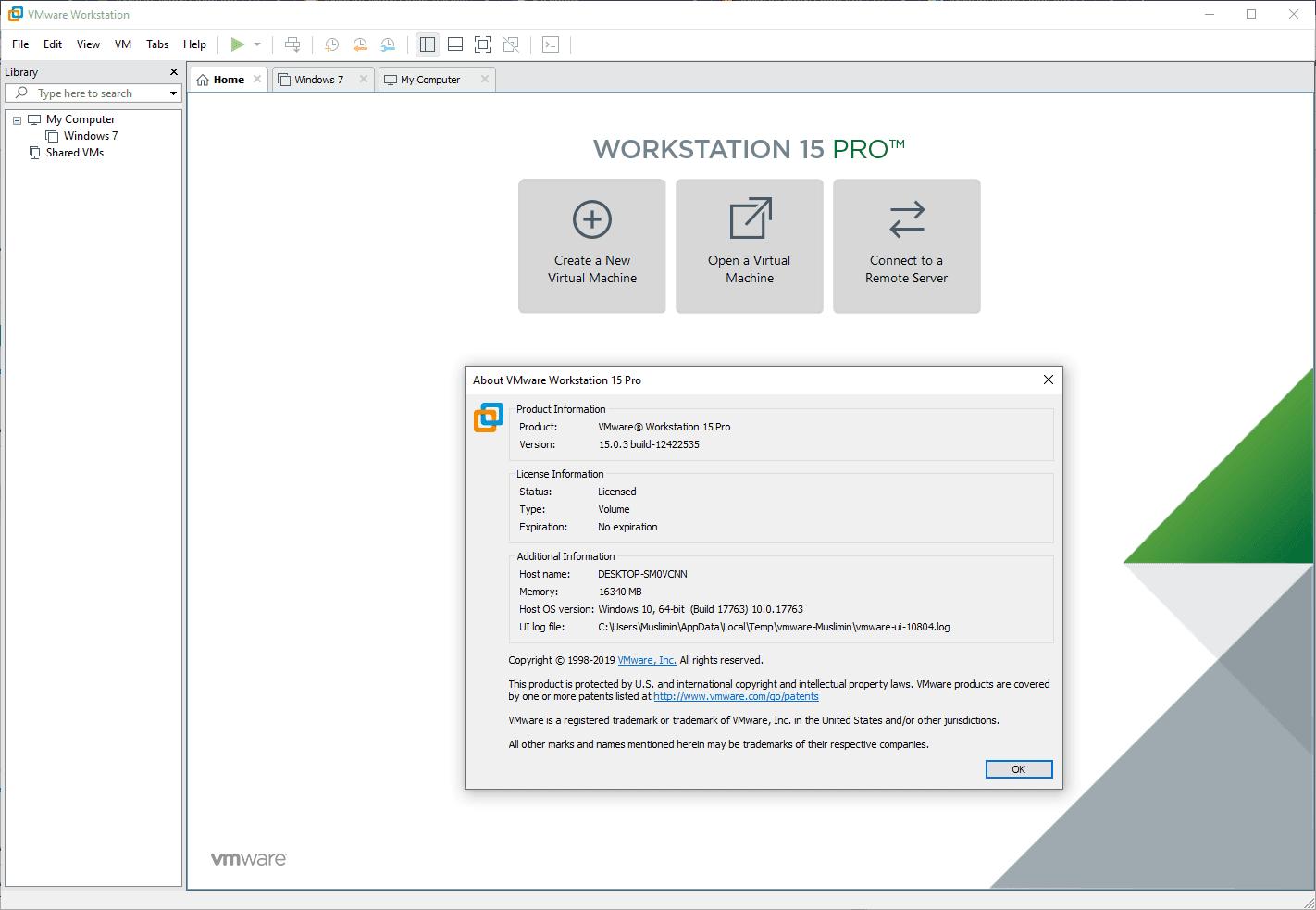 VMware Workstation Pro v15.0.3 Full Version