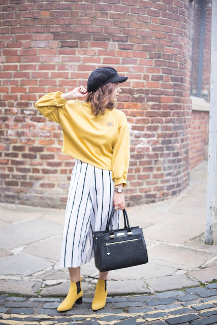 yellow outfit & carvel bag