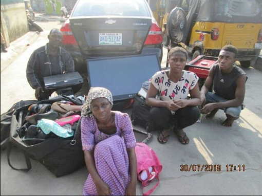 Lagos Couple, Their Son, His Girlfriend Arrested For Stealing