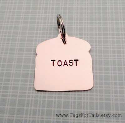 Bread Slice Dog Tag