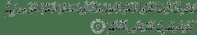 Surat Muhammad ayat 3