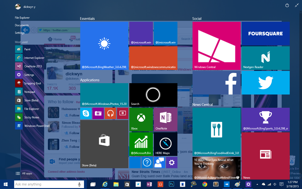 Windows-10-build-10041-transparent-start-screen
