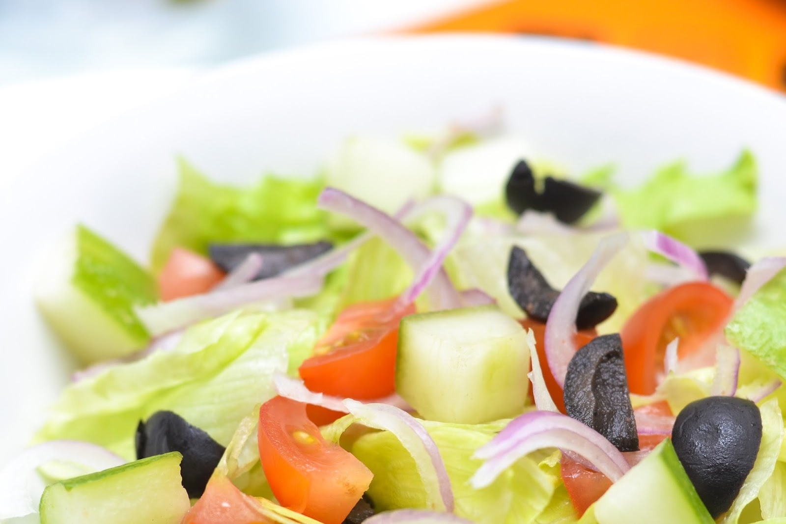 Greek Salad with Onions Tomato and Onion