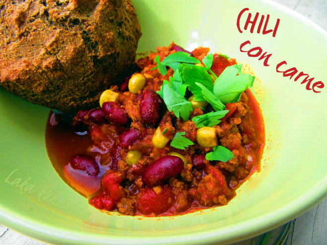 Chili con carne by Laka kuharica: classic, spicy, delicious and hearty Mexican dish is perfect for entertaining.