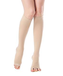 c1e3e1a4c9f Unisex Medical Open Toe Knee High Compression Socks