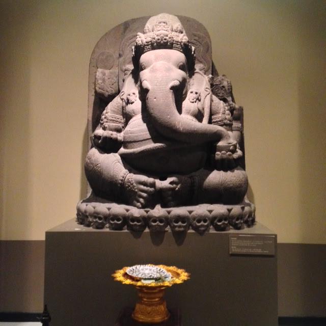 ancient statue of god ganesh at Bangkok National Museum