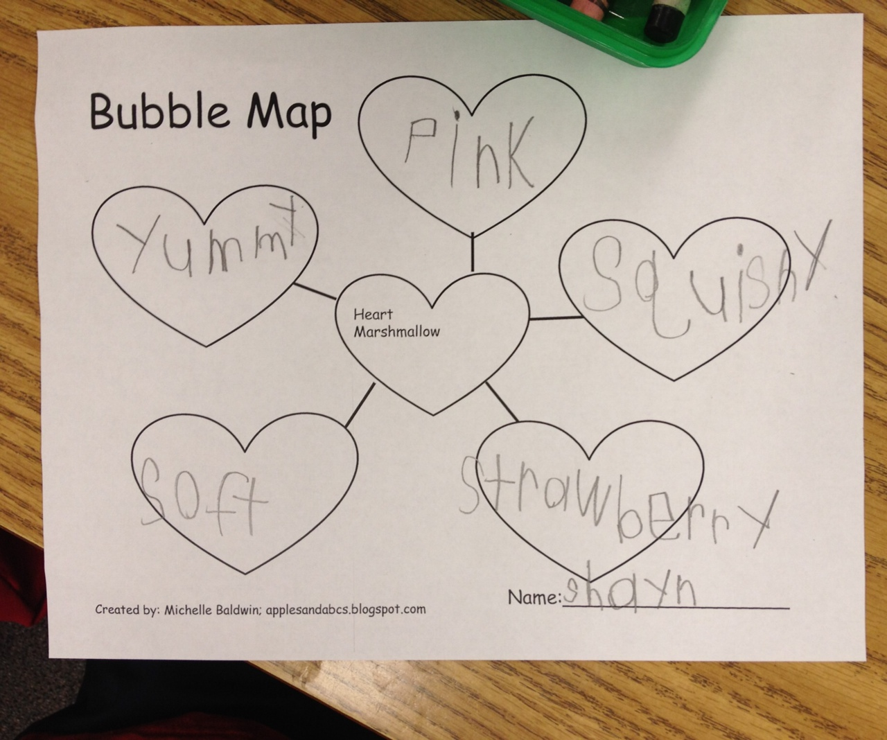 Marshmallow Heart Adjectives