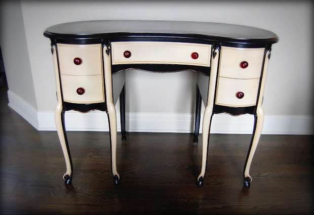 Revamped French Provincial Ladies Desk