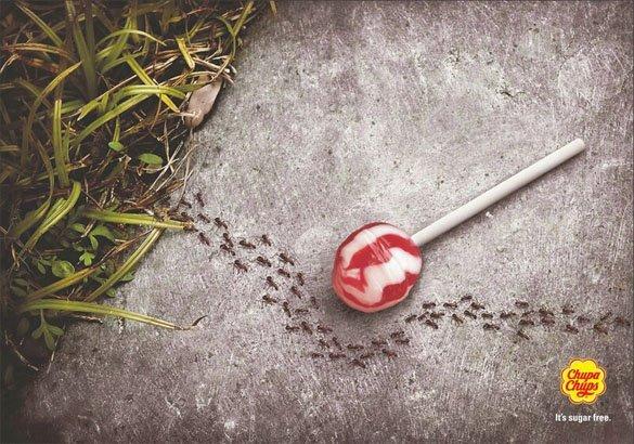 Kẹo mút Chupa Chups không đường – đến kiến cũng phải bỏ qua