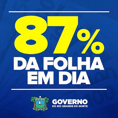 Resultado de imagem para Governo do RN conclui pagamento de 87% da folha de março no próximo sábado, 07