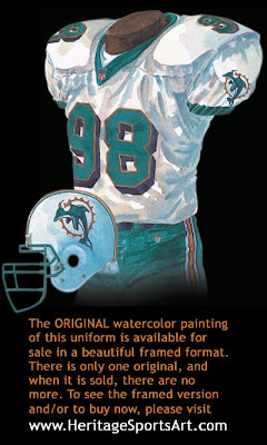 Miami Dolphins 1997 uniform